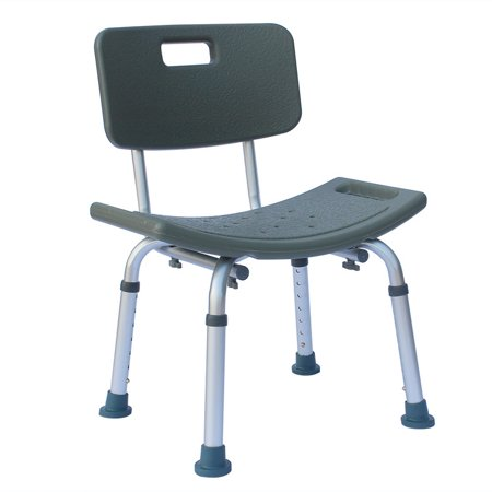 Bath Seat And Shower Chair With Back For Seniors, Elderly, Disabled, Handicap, and Injured Persons, Supports Up To 300lbs ()
