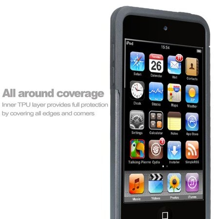 iPod Touch 5 Case,iPod Touch 6 Case,Heavy Duty High Impact Armor Case Cover Protective Case for Apple iPod touch 5 6th Generation Black - image 1 of 4