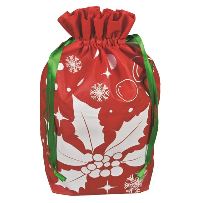 Debco NW6833 Environmentally Friendly Holiday Gift Bag Large - Red  - 12 Pack - image 1 de 1