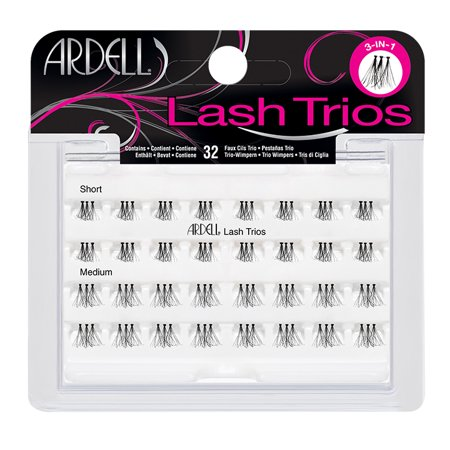 Ardell Eyelash Individual Lash Trios Black - 32ct (Bat Eyelashes)