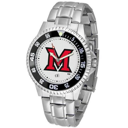 Ncaa Competitor Metal Band Watch - Miami Ohio Redhawks NCAA