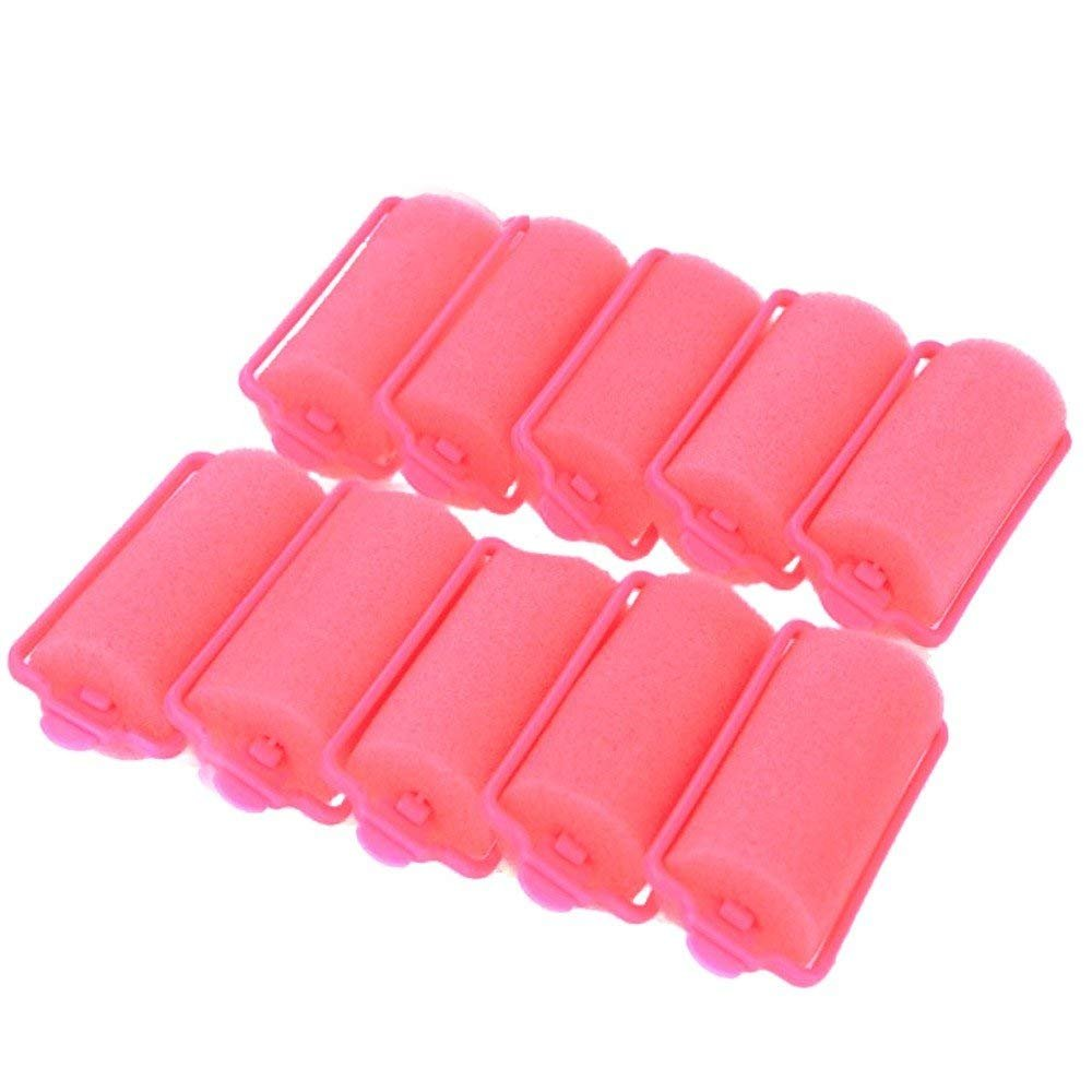 Wideskall® 30 Pieces Large Soft Foam Sponge Hair Rollers for Women Hair Curlers Salon (Pink), Pack of 30