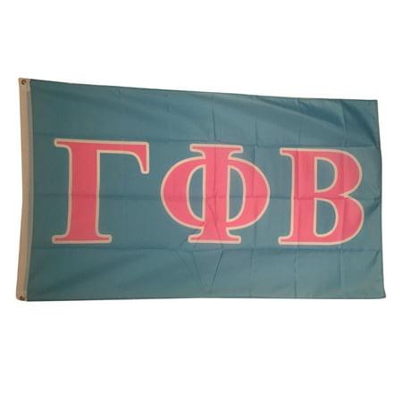 gamma phi beta light bluelight pink letter flag 3