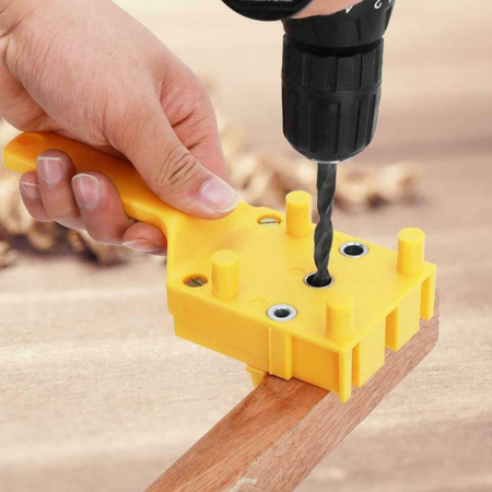 Handheld Woodworking Positioning Jig Drill Guide Wood Dowel Drilling Hole