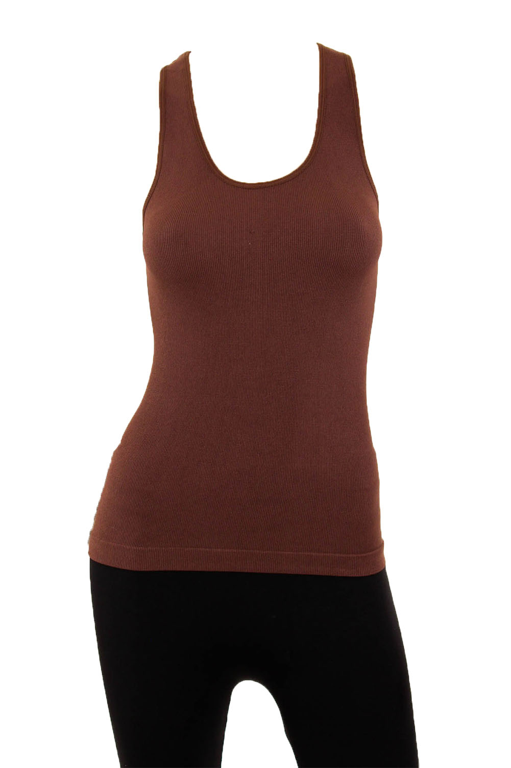 Musa Women's Ribbed Racerback Stretch Tank Top