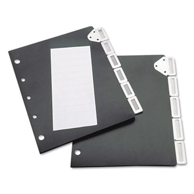 Tarifold- Inc. Index Divider Set For Catalog Rack- Five-Tab Set- Black by Duratron