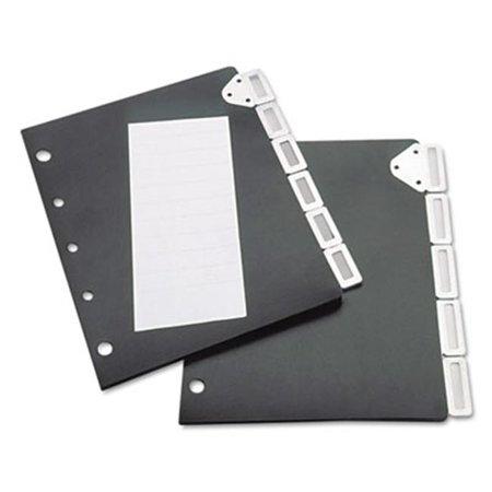 - Tarifold- Inc.  Index Divider Set For Catalog Rack- Five-Tab Set- Black