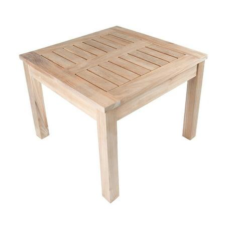 Arbora Teak Nantucket Solid Square Side Table