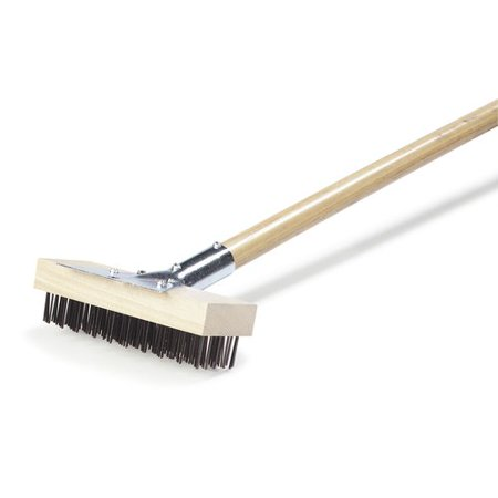 Carlisle Food Service Products Sparta  Oven And Grill Brush With Scraper And Flat Wire Bristles