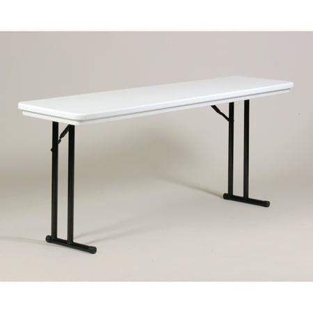 Correll Rectangle Blow Molded Folding Seminar Table ()