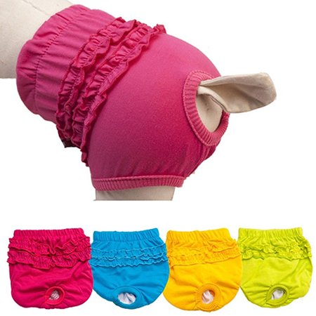 Girl12Queen Pet Dog Lace Panties Cute Puppy Female Dogs Menstruation Sanitary Pants Brief - Female Pet
