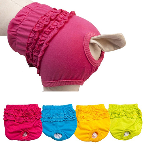 Girl12Queen Pet Dog Lace Panties Cute Puppy Female Dogs Menstruation Sanitary Pants Brief