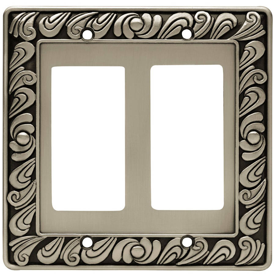 Paisley Double Decorator Wall Plate, Available in Multiple Colors