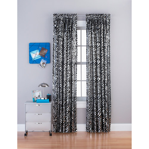 Zebra Foil Sheer Curtain Panel