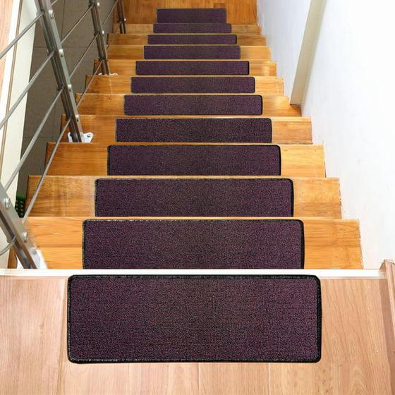 Yaheetech Non-Slip Indoor Outdoor Stair Carpet Mat,Set 0f 13 Stair ...