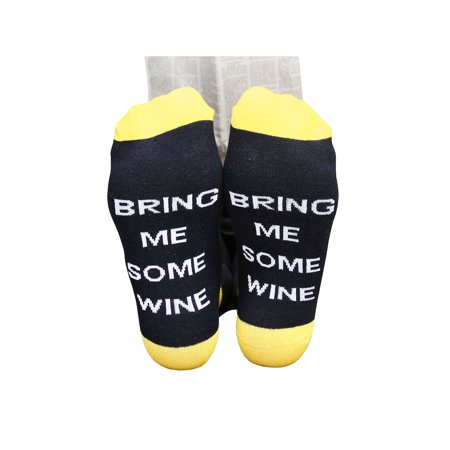 Women's Funny Hidden Message Socks - If You can Read This - Bring Me Some (Bring Me A Glass Of Wine Socks)