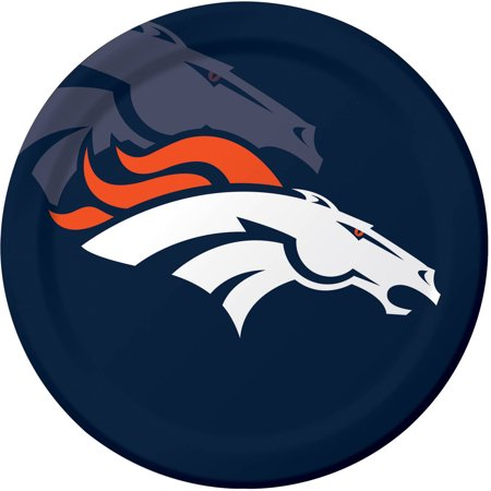 Denver Broncos Plates, 8-Pack](Denver Broncos Halloween Party)