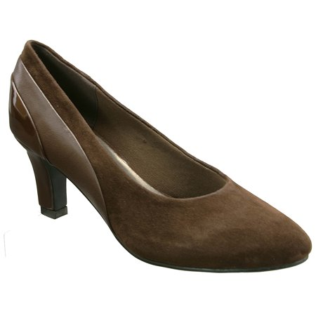 - David Tate Women's Sexy Dress Pumps Brown Suede Patent Leather 13 M