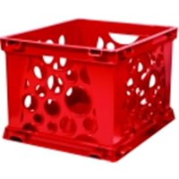 Mini Stackable Storage Crate - Red