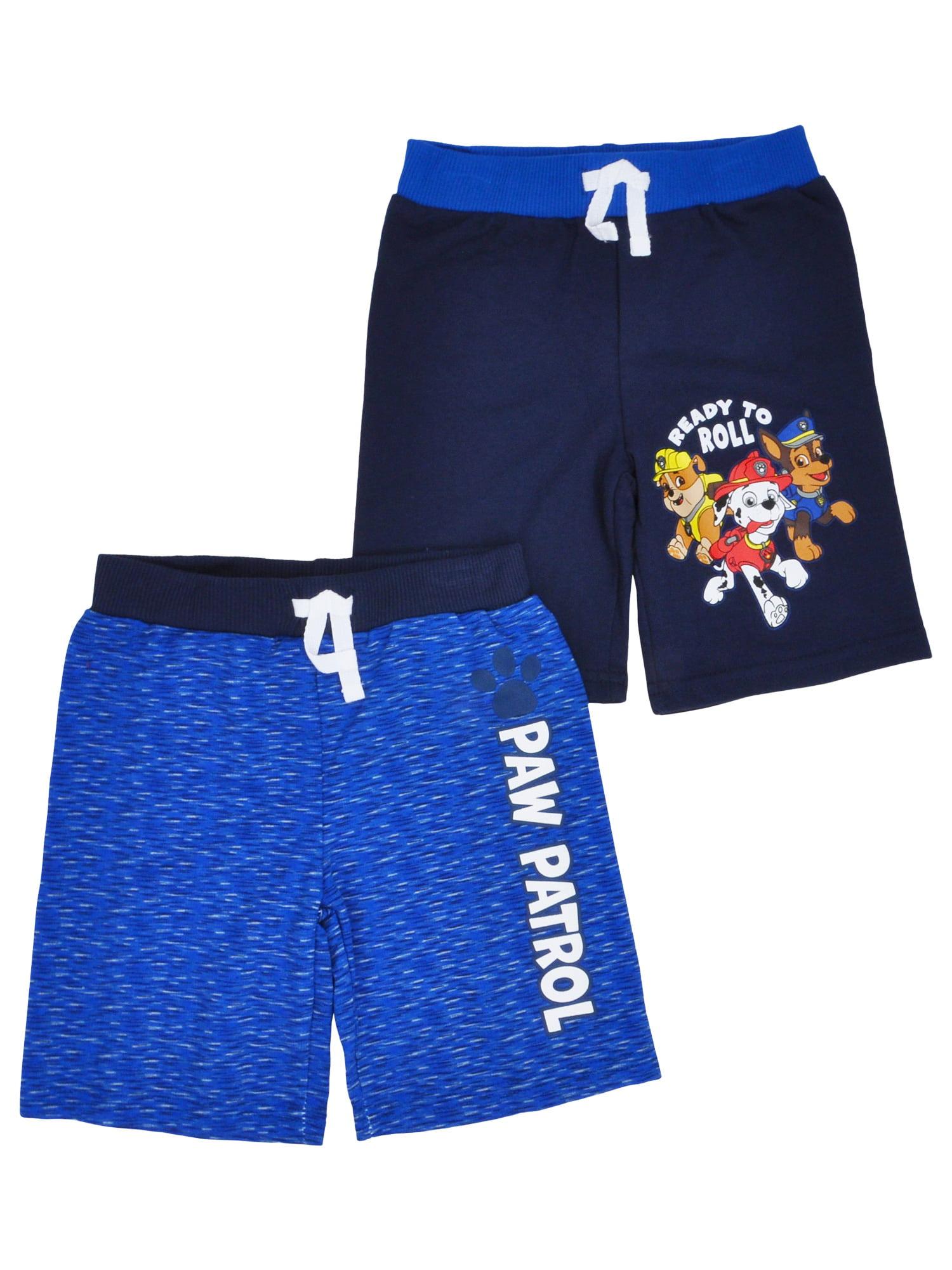 Toddler Boys Paw Patrol Shorts - Chase Marshall Rubble Logo (2-PACK)