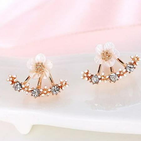 Designer Wood Earrings - Designer Inspired Rose Gold Amaon Jacket Earrings
