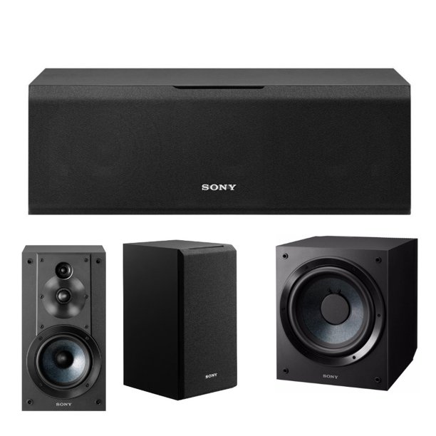 Sony SSCS10 10-Way 10-Driver Center Channel Speaker with Subwoofer Bundle