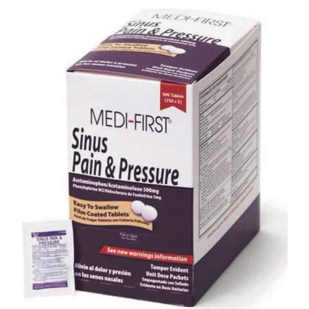 Medique Medi-First Sinus Pain & Pressure Tablets (125 x 2s)-Box of (Best Meds For Sinus Infection)
