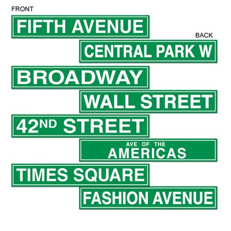 The Party Aisle New York City Street Sign Cutouts Wall D - Party City On York Rd