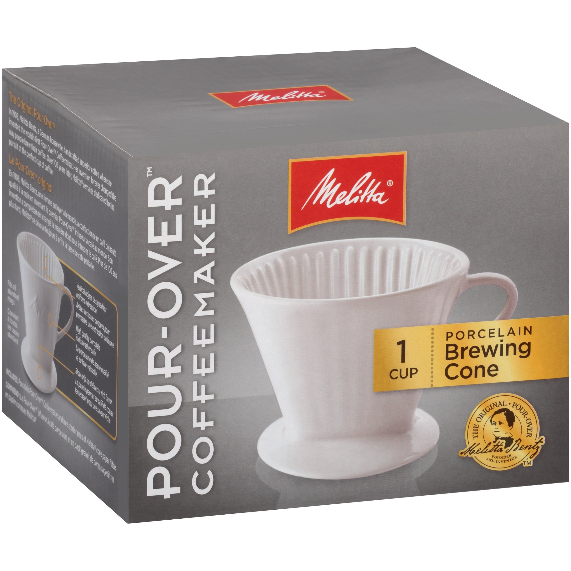 Melitta® Pour-Over™ Porcelain Single Cup Serving Coffee Brewer Box