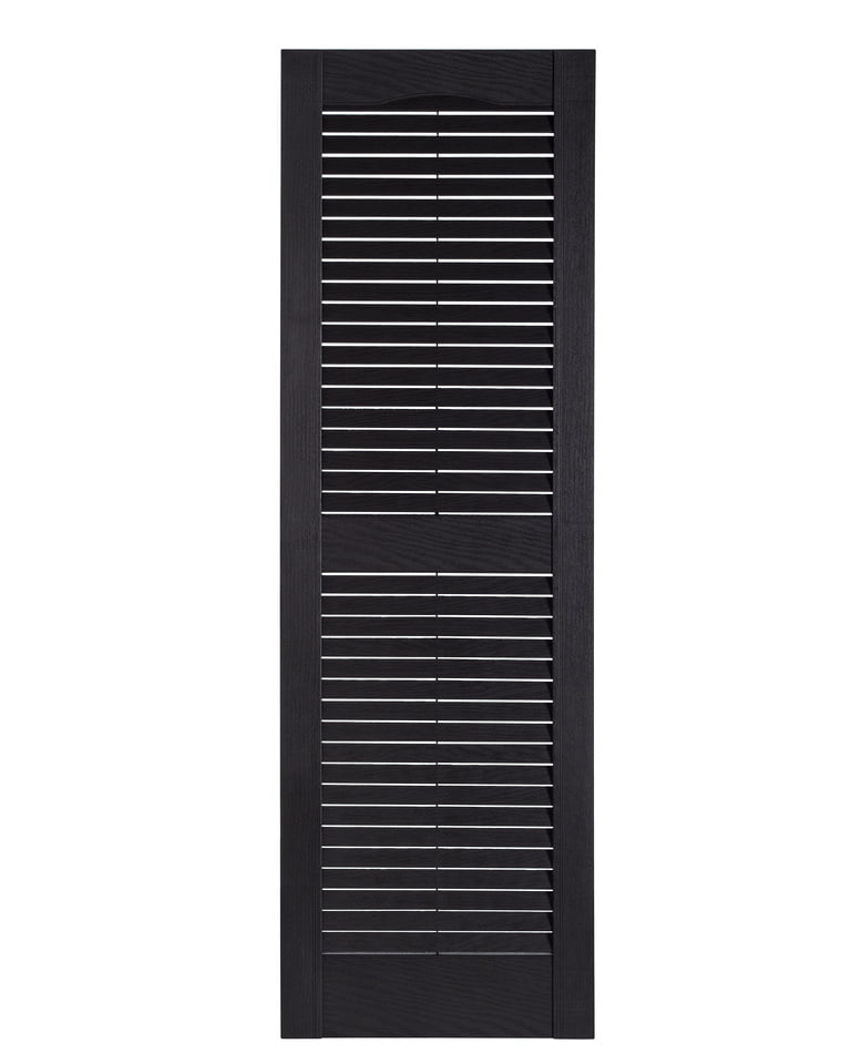 x 67 in Exterior Shutters 15 in Black Louvered Vinyl Pair With Fastener