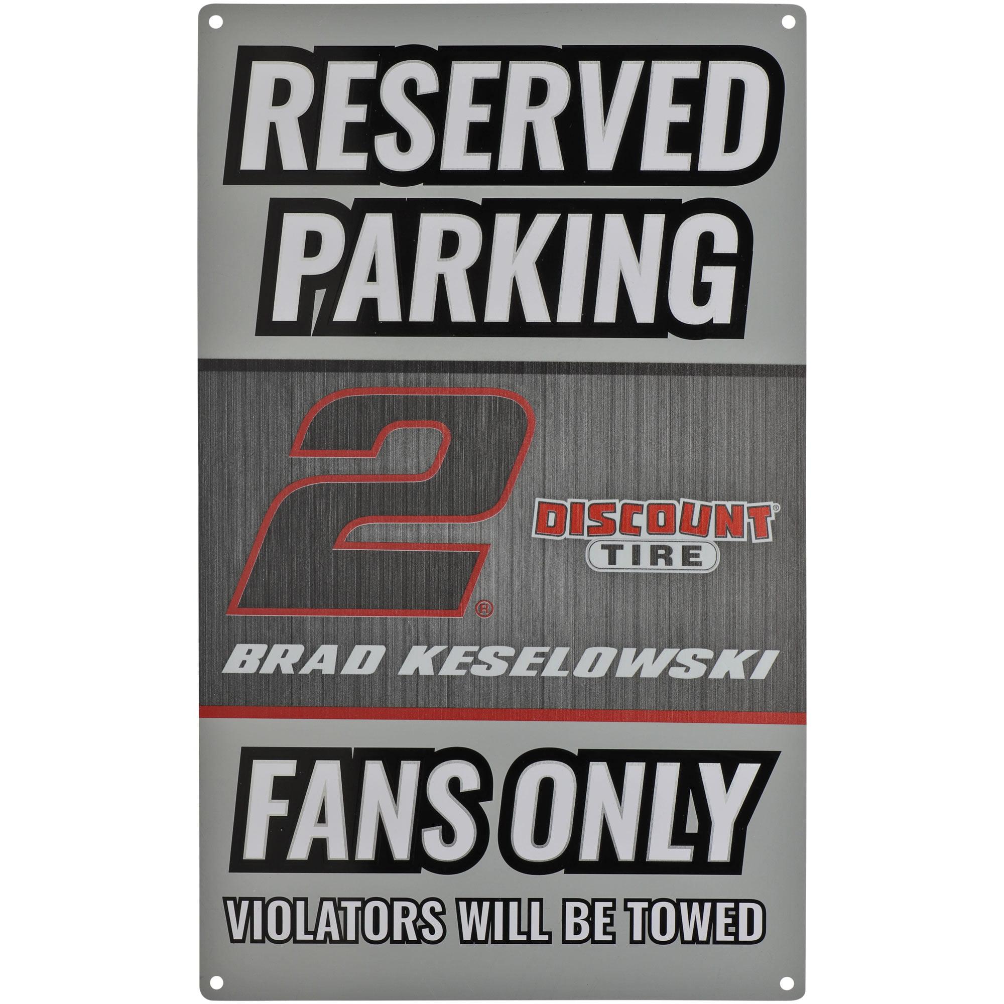 Brad Keselowski Driver Metal Parking Sign - No Size