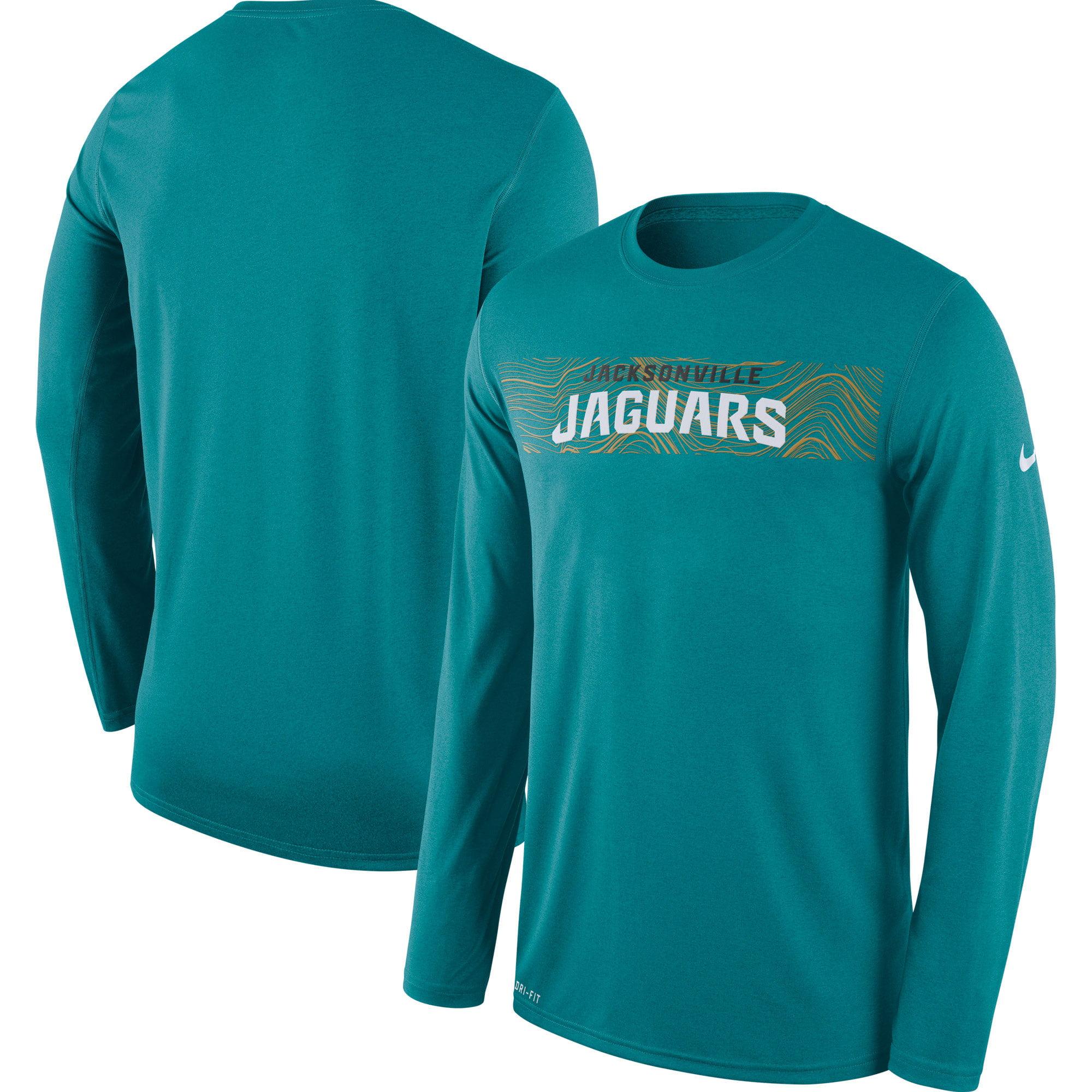 Jacksonville Jaguars Nike Sideline Seismic Legend Long Sleeve T-Shirt - Teal