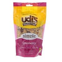 Udi's, Gluten Free Granola, Cranberry, 12 oz (pack of 2)