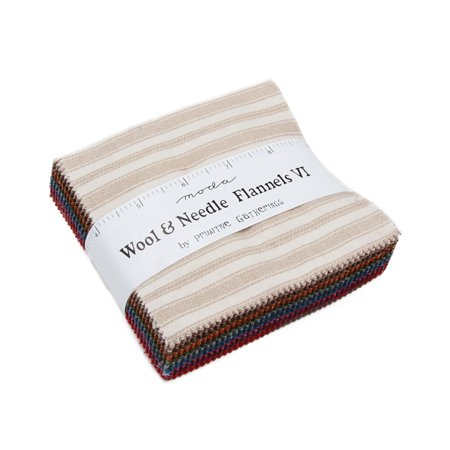 Wool Flannel Flat (Wool & Needle VI Flannels by Primitive Gatherings; 42-5 inch Squares - MODA)