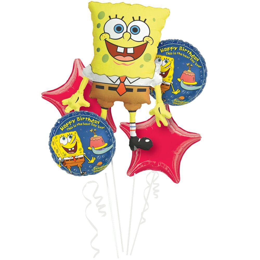 SpongeBob Balloon Bouquet - Party Supplies