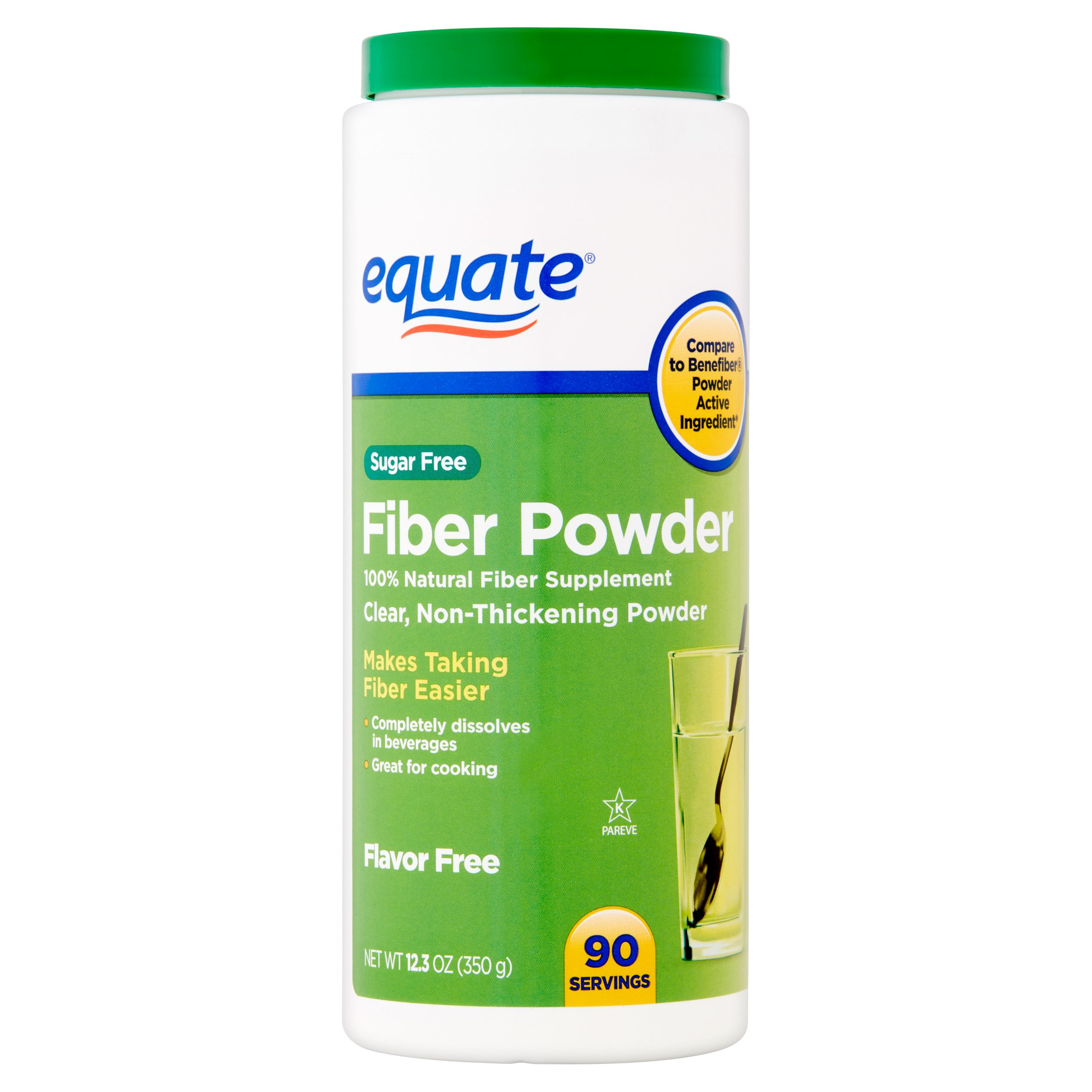 Equate Sugar Free Fiber Powder, 90 Ct, 12.3 Oz