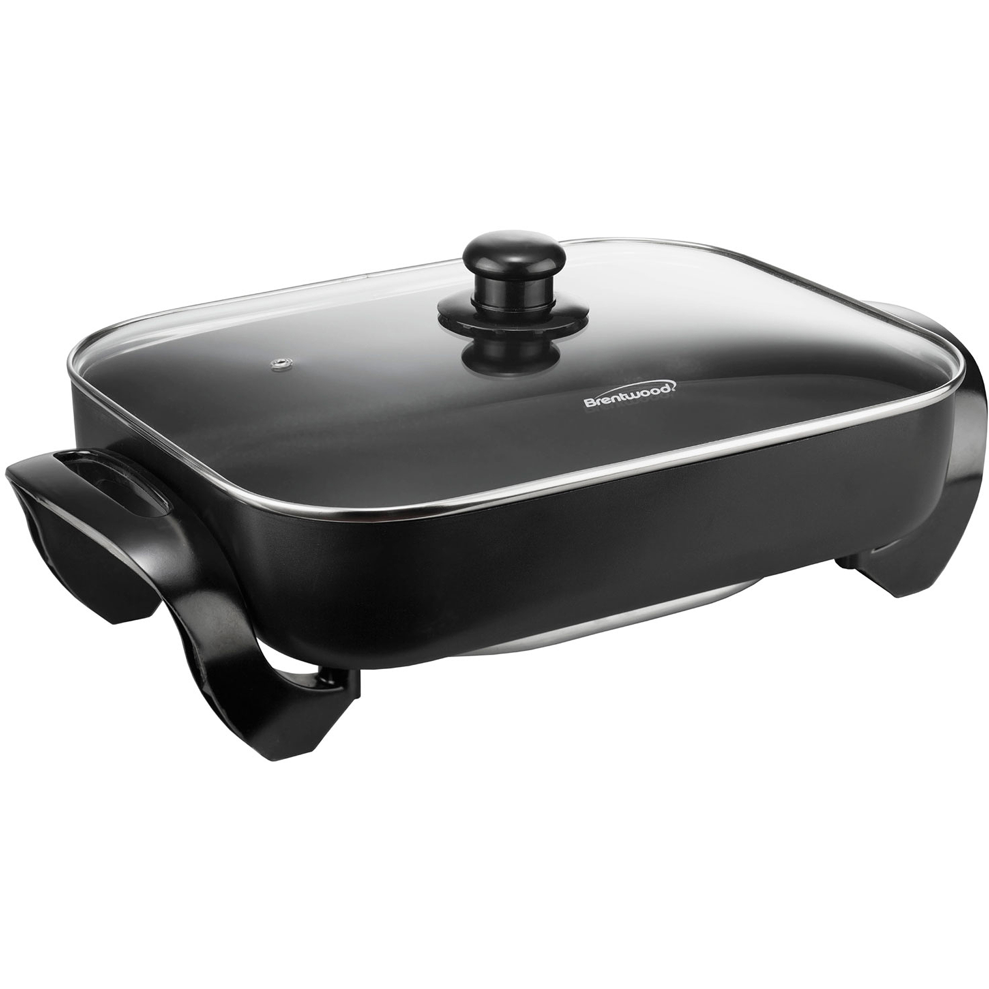 Brentwood SK-75 Electric Skillet with Glass Lid, 16""