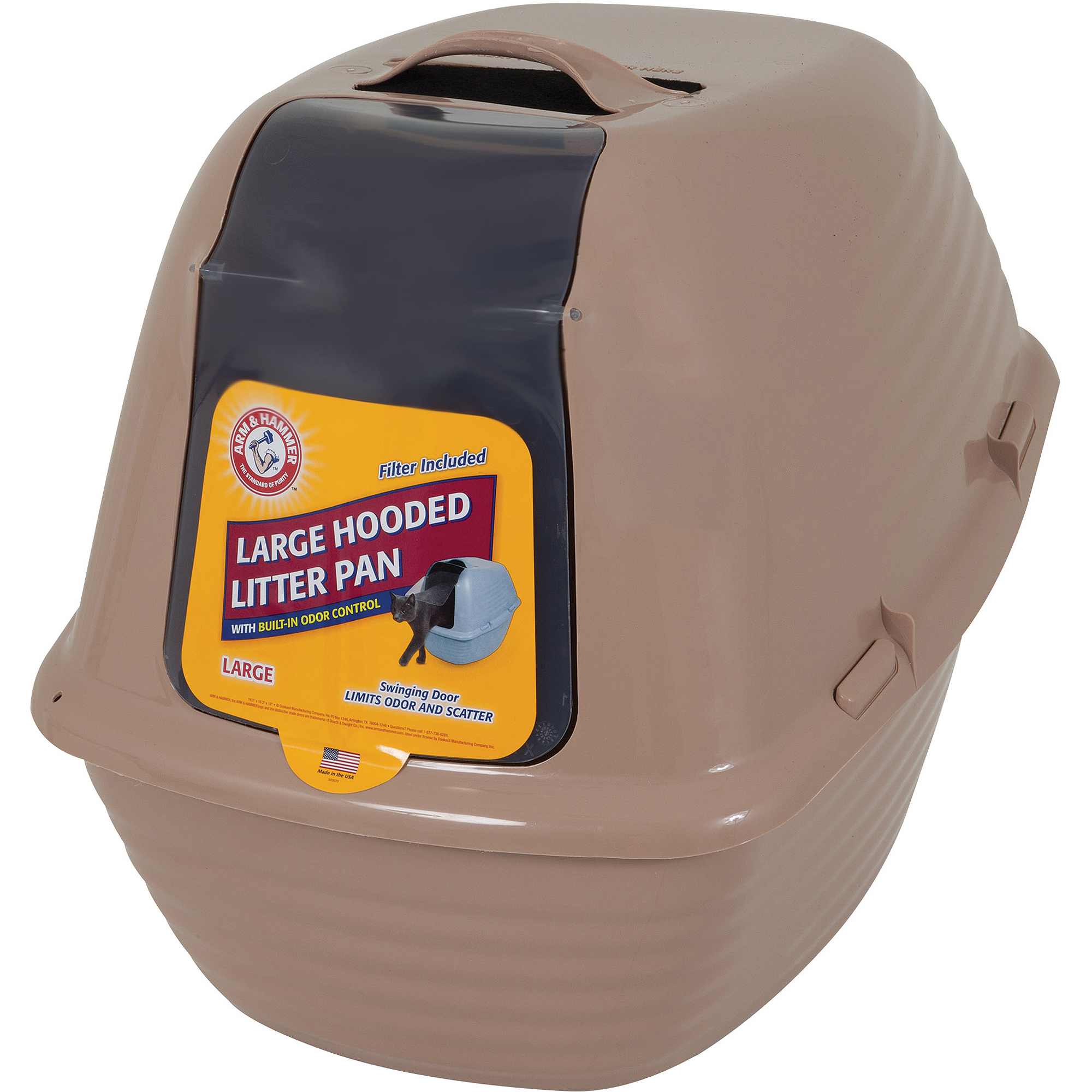Arm & Hammer Hooded Cat Litter Pan With Advanced Odor & Scatter Control