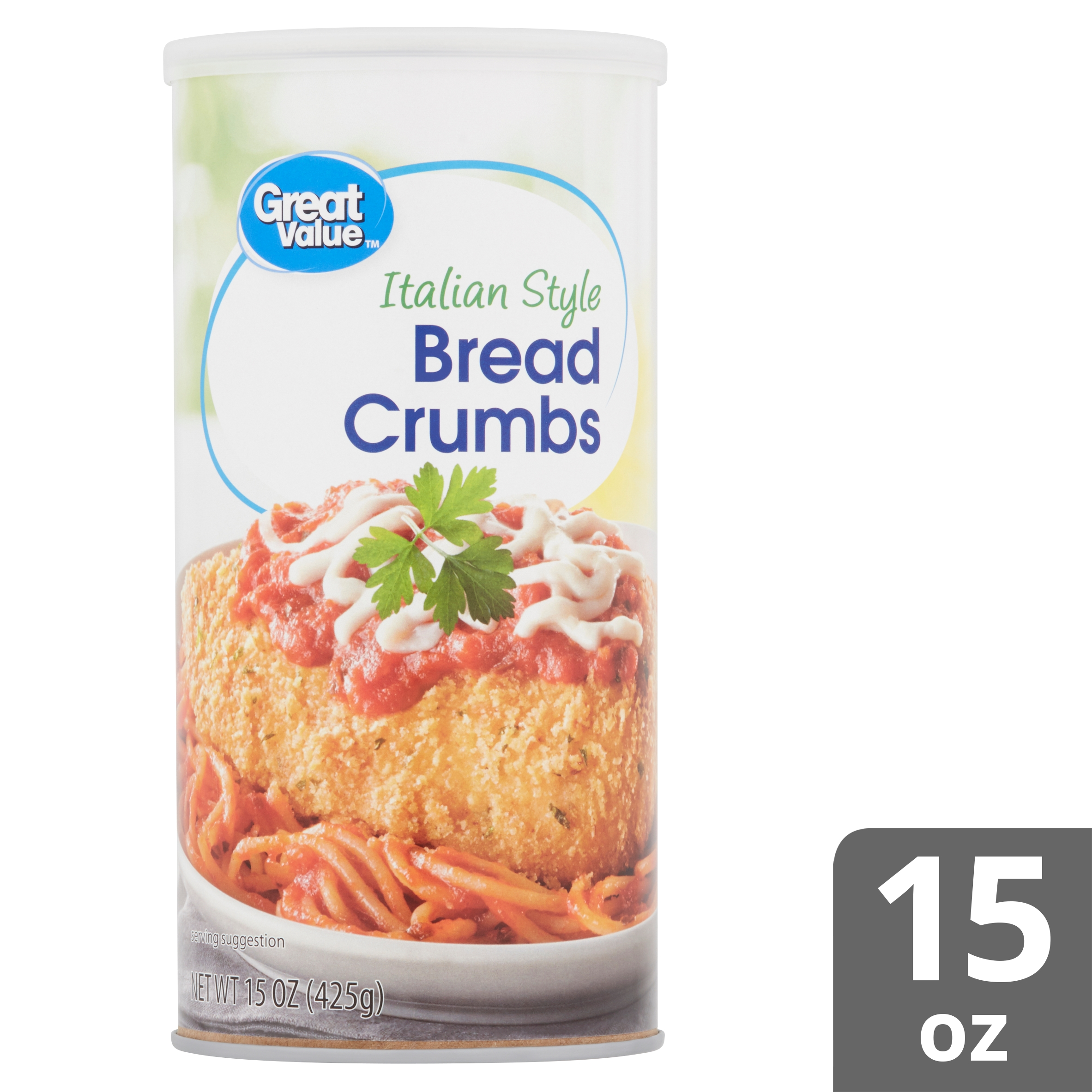 Great Value Italian Style Bread Crumbs 15 Oz Walmart Com Walmart Com