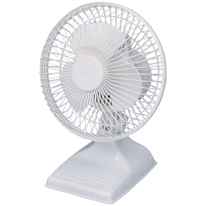 "Optimus 6"" Personal Table 2-Speed Fan, Model #F-0610, White"