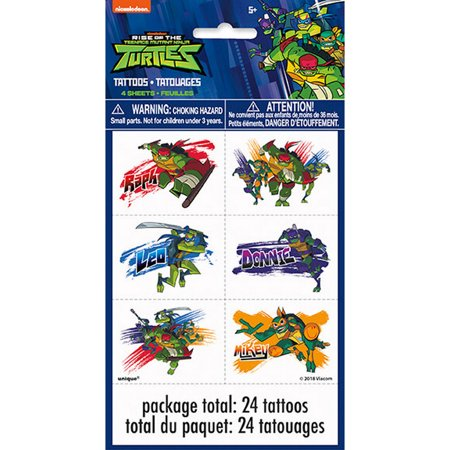 Ninja Turtles Tattoos (Teenage Mutant Ninja Turtles Tattoo Sheets)