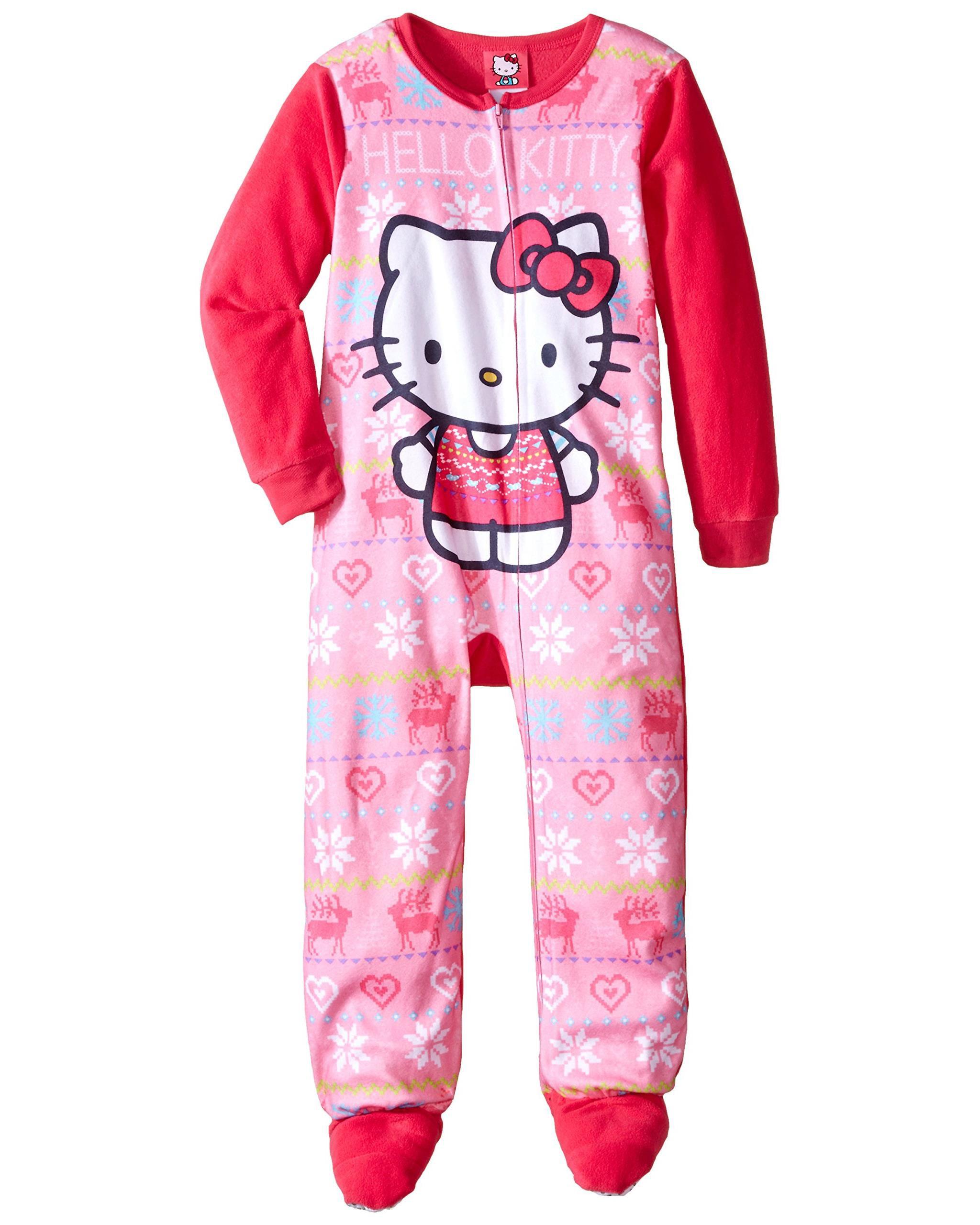7edef0113 Komar Kids Big Girls' Hello Kitty Fleece Blanket Sleeper, Pink, Size: X  zoomed image