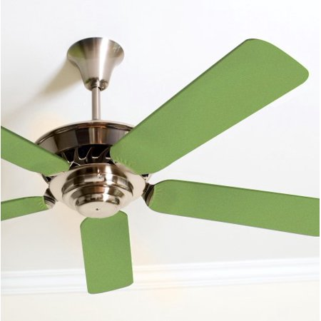 Solid Green Fancy Blade Ceiling Fan Covers Home Decor Baby