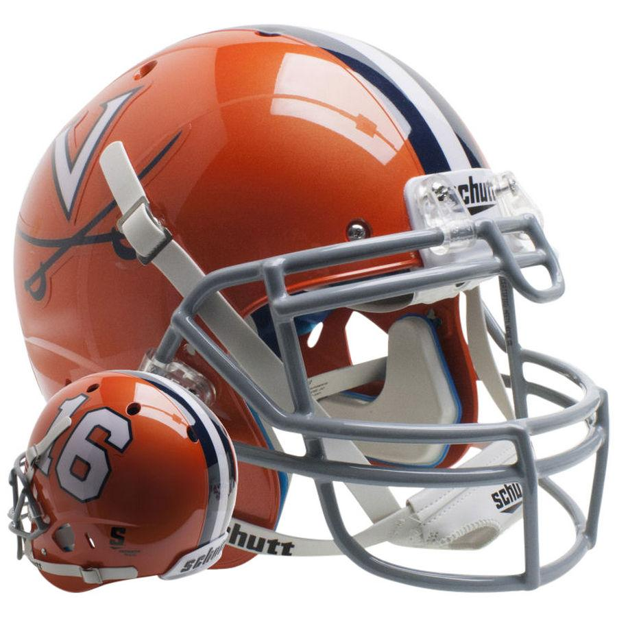 Schutt Authentic Virginia Cavaliers Orange 16 XP Football Helmet