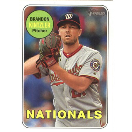 2018 Topps Heritage 355 Brandon Kintzler Washington Nationals Baseball Card