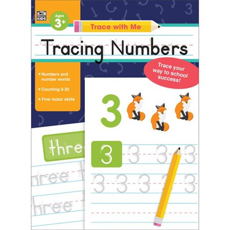Carson Dellosa CD-705216 Trace with Me Tracing Numbers Activity Book