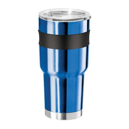 Oggi Contour X-Large Double Wall Vacuum Sealed Thermal Travel Mug, 30 oz Stainless ()