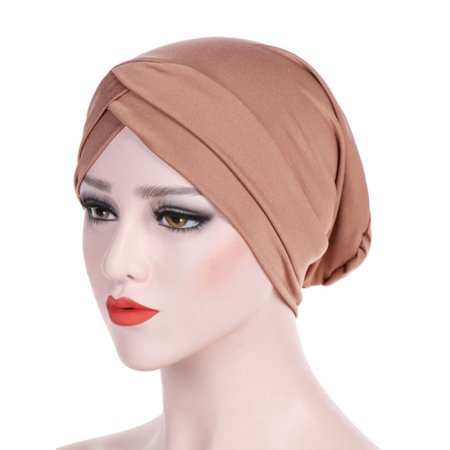 Womens Muslim Bonnet Cancer Chemo Beanie Caps Islamic Hijab Pleated Turban Hats ()