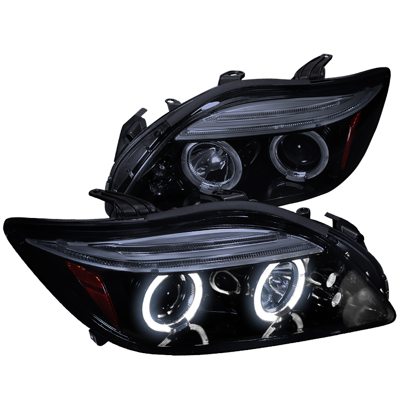 Spec-D Tuning New 2005-2010 Scion Tc Dual Halo Projector Led Lamps Head Lights 05 06 07 08 09 10 (Left + Right)