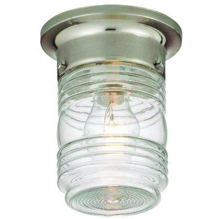Hardware House Ceiling Mounted Jelly Jar Light - Satin Nickel Ceiling Light Bracket